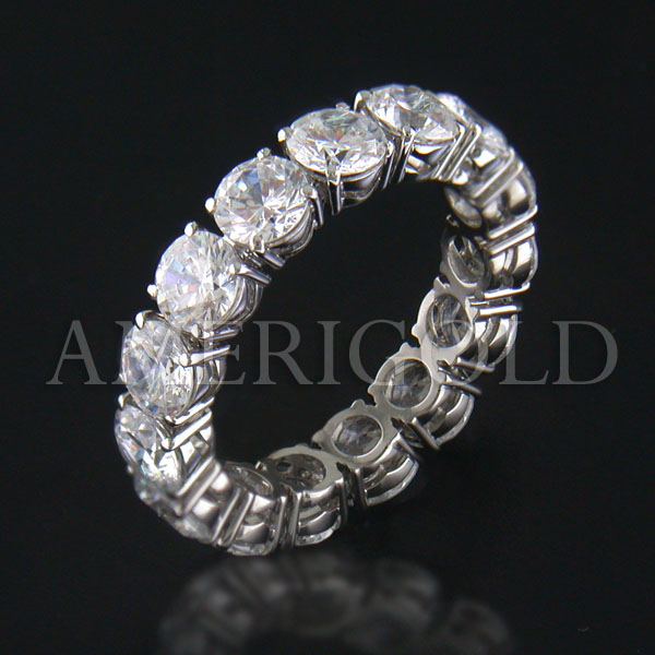 jewelry white bands let gold ring band row rings wedding diamond triple bridal round baguette