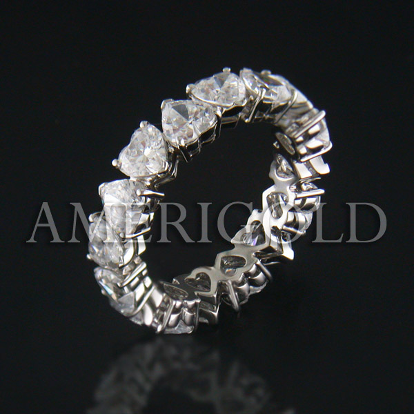 Wedding Bands Eternity Diamond Ring Half Diamond Band