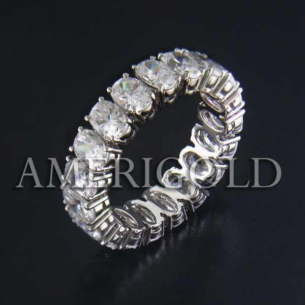 Oval Diamond Eternity Band Eternity Band With Oval