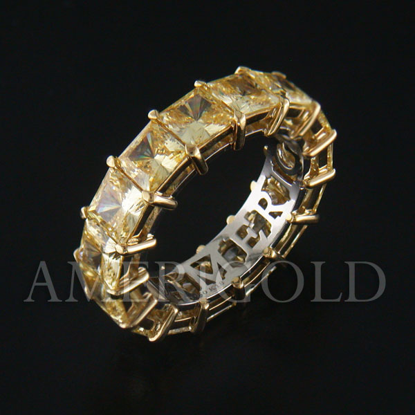 Fancy Yellow Princess Eternity Band