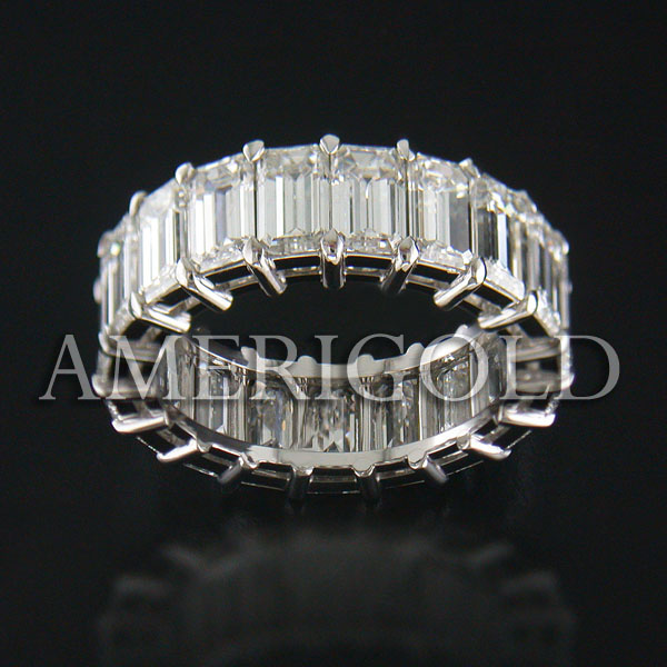 Eternity Band with Emerald Diamond