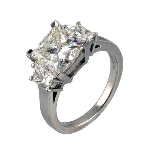 Princess Three Stone Ring