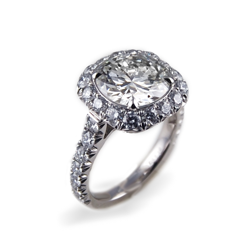 Engagement Ring with Pave