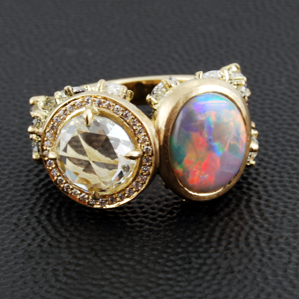 Opal Gold Diamomd Ring