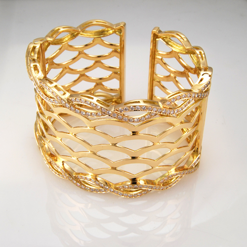 Gold Bangle Custom Designed Jewelry by Amerigold
