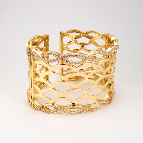Gold Round Diamind Bracelet
